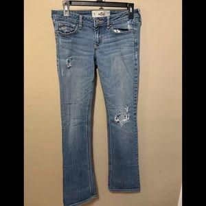 Hollister Straight Leg Distressed Stretch Jeans